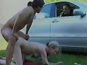 Pregnant blonde fucks and gets cum